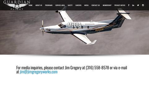 Screenshot of Press Page guardianflight.com - Guardian Flight |   Media - captured Oct. 3, 2018