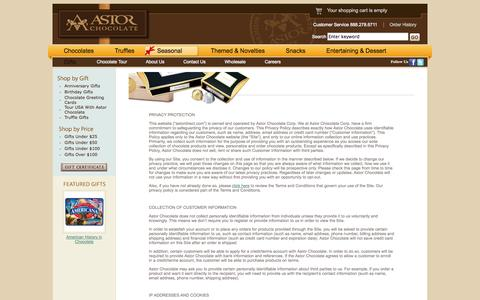 Screenshot of Privacy Page astorchocolate.com - Privacy Policy - captured Sept. 24, 2014