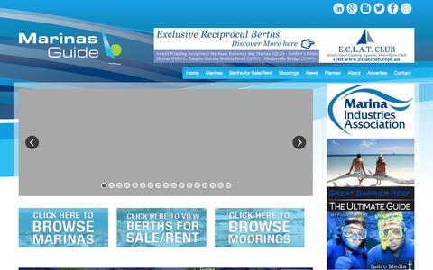 Screenshot of Home Page marinasguide.com.au - Home | Marinas Guide - captured Oct. 4, 2014