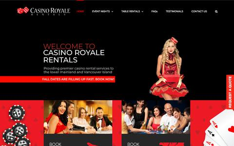 Screenshot of Home Page casinoroyalerentals.com - casino royale rentals – Serving Victoria, Vancouver Island & Vancouver - captured July 16, 2018