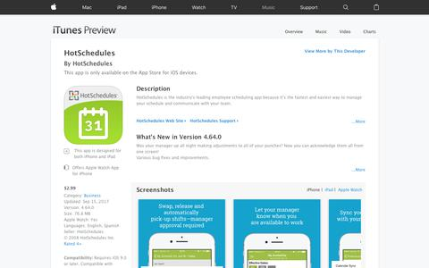 HotSchedules on the App Store