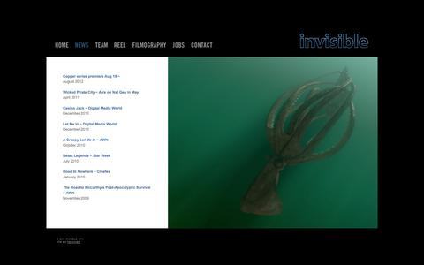 Screenshot of Press Page invisiblepictures.ca - Invisible Pictures - captured Sept. 30, 2014