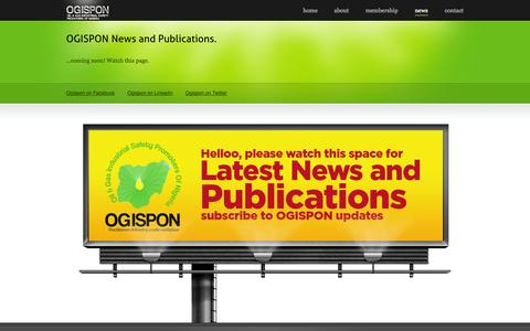 Screenshot of Press Page ogispon.org - Welcome to OGISPON.org - News and Publication - captured Oct. 27, 2014