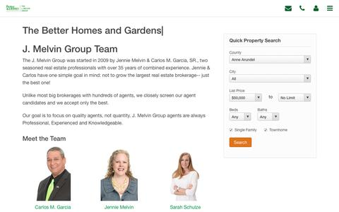 Screenshot of About Page jmelvin.com - Meet the J. Melvin Group Real Estate Team - captured July 7, 2018