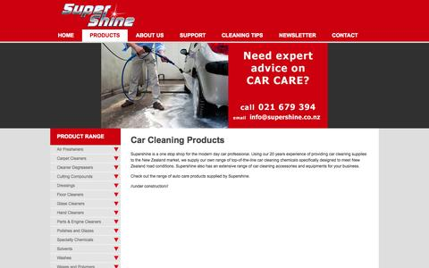 Screenshot of Products Page supershine.co.nz - Car Cleaning Products | Supershine NZ car cleaning products - captured Sept. 30, 2014