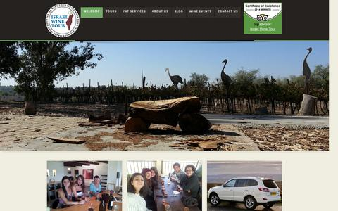 Screenshot of Home Page israelwinetour.co.il - Israel Wine Tour-Exploring Fine Boutique Wineries - captured Jan. 9, 2016