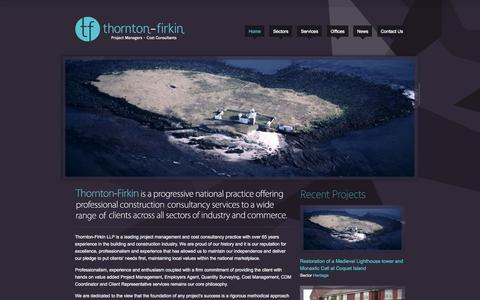 Screenshot of Home Page thorntonfirkin.com - Thornton Firkin - captured Oct. 9, 2014
