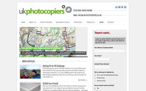 Screenshot of Press Page uk-photocopiers.co.uk - UK Photocopiers Blog & News   UK Photocopier Services Ltd - captured Oct. 3, 2014