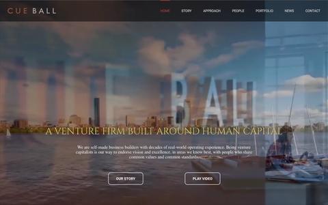 Screenshot of Home Page cueball.com - Cue Ball - captured Sept. 18, 2015