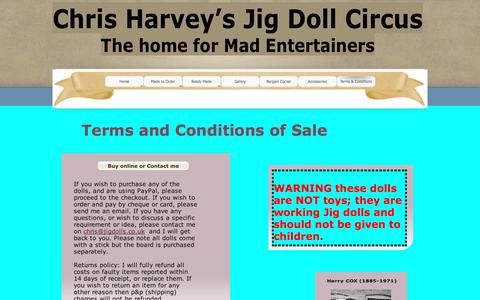 Screenshot of Terms Page jigdolls.co.uk - Terms & Conditions - captured March 11, 2017
