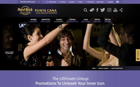 Casino Promotions at The Hard Rock Casino Punta Cana