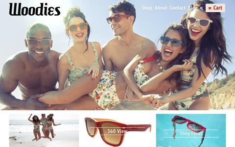 Screenshot of Home Page woodies.com - Woodies Bamboo Sunglasses and Watches Handmade from Bamboo and Wood - captured Sept. 19, 2014