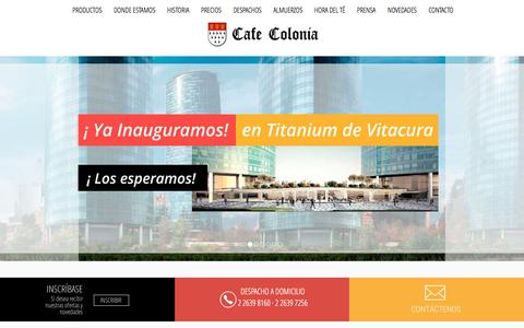 Screenshot of Home Page cafecolonia.cl - Pasteleria Alemana Salon Te Colonia Almuerzos Ejecutivos - captured March 25, 2017