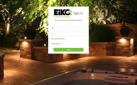 Screenshot of Login Page eiko.com - EiKO - Log in - captured Nov. 2, 2016