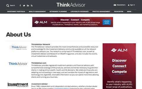 Screenshot of About Page thinkadvisor.com - About Us | ThinkAdvisor - captured Jan. 9, 2020