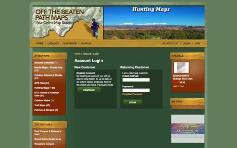 Screenshot of Login Page otbpmaps.com - Account Login - captured Oct. 27, 2014