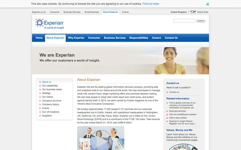 About Experian - Experian UK and Ireland