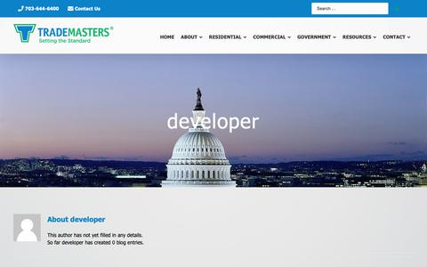 Screenshot of Developers Page trademasters.com - - Trademasters - captured Oct. 18, 2018