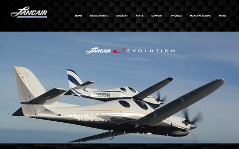 Screenshot of Home Page lancair.com - Lancair International, Inc. - captured Jan. 25, 2016