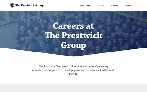 Screenshot of Jobs Page prestwick-group.com - Careers - The Prestwick Group - captured Oct. 20, 2018