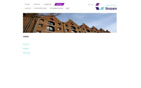 Screenshot of Login Page ibl.nl - Login - Ingenieursburo Linssen b.v. - ingenieursbureau,adviesbureau,installaties,Linssen,IBL,EPA,ingenieursburo,transformatie,installatie,elektrotechniek,klimaattechniek,transporttechniek,EPC - captured Oct. 6, 2014