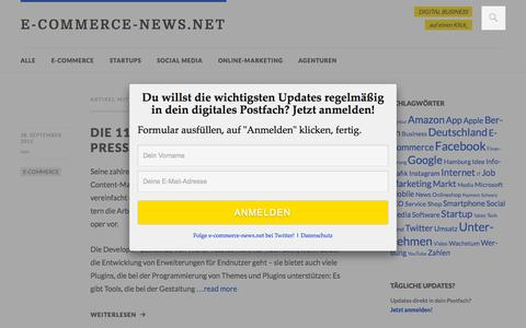 Screenshot of Developers Page e-commerce-news.net - Developer Archives - E-COMMERCE-NEWS.NET - captured Sept. 29, 2015