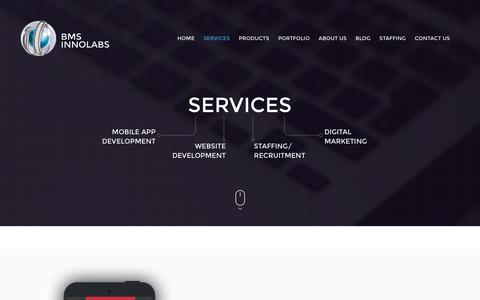 Screenshot of Services Page bmsils.com - Android Application Development Company | Website Designers in Bangalore | ios application Development | Augmented Reality App Development | Web Design Company Bangalore - captured Feb. 7, 2016