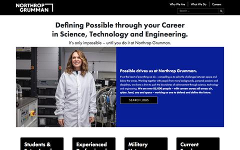Screenshot of Jobs Page northropgrumman.com - Careers – Northrop Grumman - captured Jan. 15, 2020
