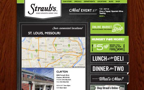Screenshot of Locations Page straubs.com - Locations | Straub's - captured Sept. 30, 2014