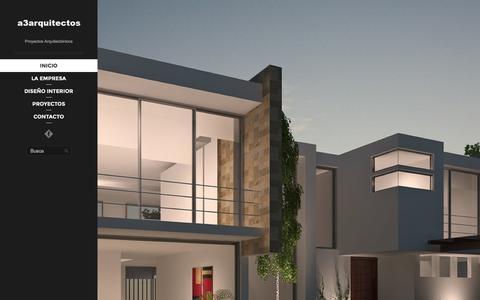 Screenshot of Home Page a3arquitectos.com - A3 Arquitectos Quito Ecuador - Diseñamos y Construimos su casa con los mejores acabados y los mejores precios - captured Dec. 22, 2015