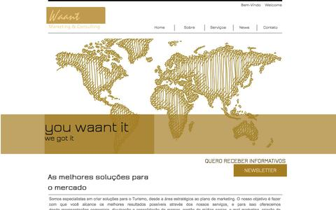 Screenshot of Home Page waant.com.br - Waant Marketing and Consulting - captured Oct. 7, 2014