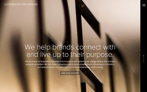 Screenshot of Home Page experiencesformankind.com - Experiences For Mankind   San Diego, CA   EFM - captured June 17, 2015