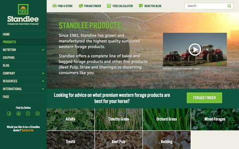 Screenshot of Products Page standleeforage.com - Quality Horse Feed Products | Standlee Premium Western Forage - captured Nov. 22, 2017