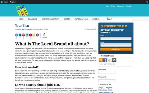 Screenshot of FAQ Page thelocalbrand.com - FAQs | The Local Brand - captured Sept. 19, 2014