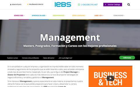 Screenshot of Team Page iebschool.com - Programas de Formación en Management   IEBS - captured Sept. 21, 2018