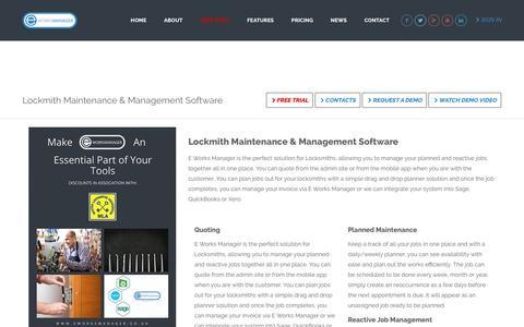 E Works Manager - Locksmith Maintenance Software & Management