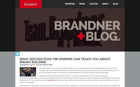 Screenshot of Blog brandner.com - Brandner Blog | Building Products Marketing Blog - captured Oct. 5, 2014