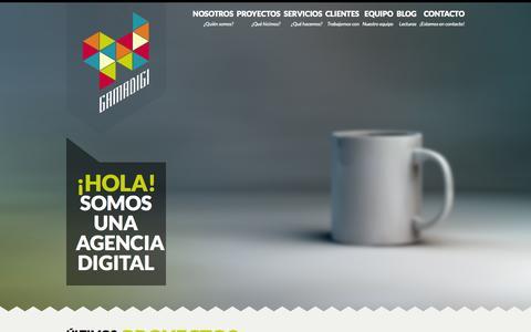 Screenshot of Home Page gamadigi.es - :: Gamadigi :: | Digital Design agency - captured Oct. 1, 2014