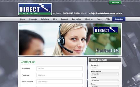 Screenshot of Contact Page direct-telecom-svs.co.uk - Direct Telecom Services - Contact us - captured Oct. 5, 2014