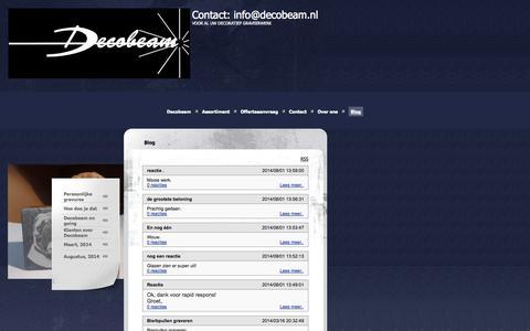 Screenshot of Blog decobeam.nl - Contact: info@decobeam.nl - Blog - captured Sept. 30, 2014