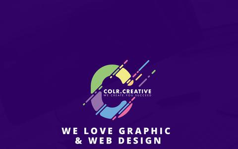 Screenshot of Home Page colrcreative.co.za - Color Creative   We create you Succeed - captured July 20, 2018