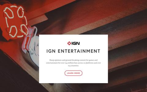 Screenshot of About Page ign.com - IGN Entertainment - captured May 12, 2018