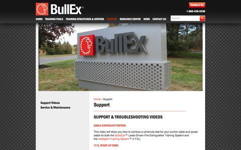 Screenshot of Support Page bullex.com - Support - Bullex - captured Oct. 29, 2014