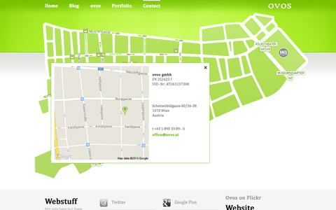 Screenshot of Contact Page ovos.at - Contact » Serious Games und Onlinekommunikation: Ovos media - captured Oct. 7, 2014
