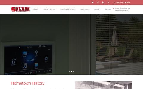 Screenshot of Home Page suesselectronics.com - Custom Theater Integration | Wisconsin | Suess Electronics - captured Aug. 16, 2015