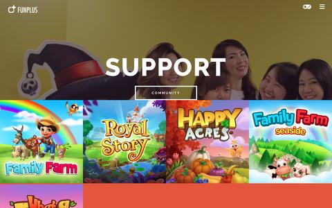 Screenshot of Support Page funplus.com - Support - captured Aug. 5, 2016