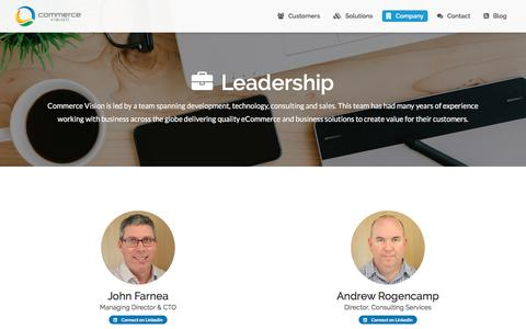 Screenshot of Team Page commercevision.com.au - Commerce Vision Leadership Team - captured May 20, 2017