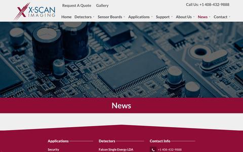Screenshot of Press Page x-scanimaging.com - X-Scan Imaging Corporation|News - captured Nov. 11, 2018