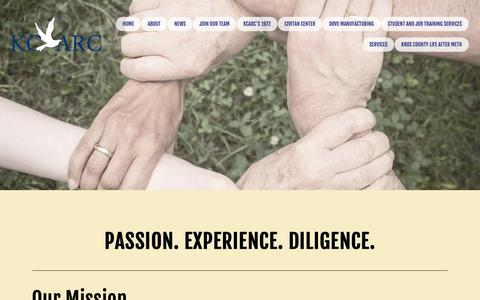 Screenshot of About Page knoxcountyarc.com - Mission Statement — KCARC - captured Dec. 20, 2018