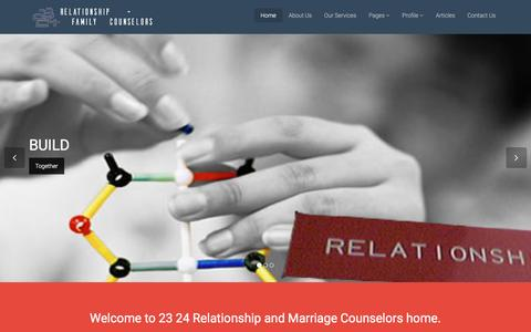 Screenshot of Home Page 2324.us - 23 24 Relationship and Marriage Counselors in Lagos, Nigeria | Home - captured Feb. 24, 2016